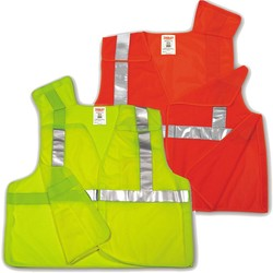 Class 2 Mesh 5-Point Breakaway Hook and Loop Vest